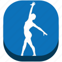 fin, rhythmic gymn, rhythmic gymnastics, sport, sports, training, wallet icon