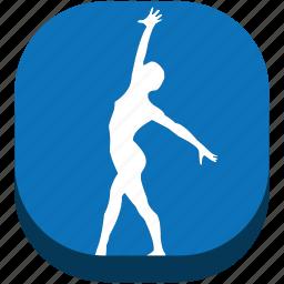 fin, rhythmic gymn, rhythmic gymnastics, sport, sports, training, wallet icon