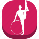 ballet, fitness, gymnastics, rhythmic gymn, sport, sports, training icon