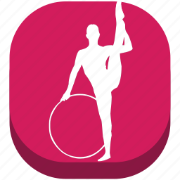 ballet, fitness, gymnastics, rhythmic gymn, sport, sports, training icon