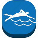 exercise, game, marine sport, play, sport, swim, swimming icon