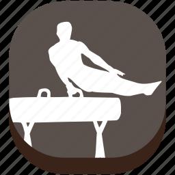 astics, exercise, game, gymnastics, play, sport, training icon