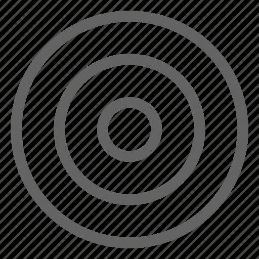 arrow, bullseye, target icon