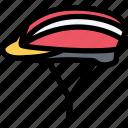 cycle, helmet, sport icon