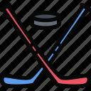 hockey, ice, sport, winter icon
