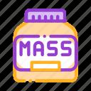 bottle, mass, nutrition, sport icon icon