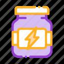 energy, sport, supplements icon