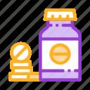 bio, bottle, drugs, supplements icon