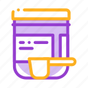 bottle, scoop, supplements icon