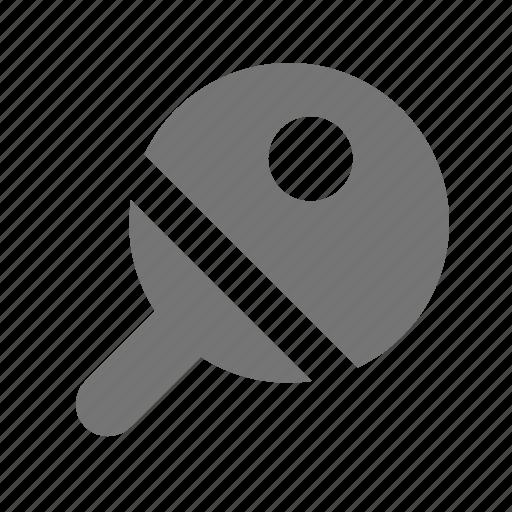 ball, paddle, pingpong icon