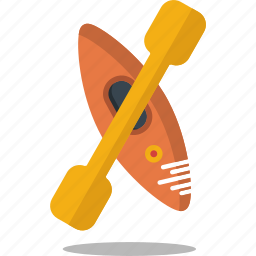 canoe, fun, kayak, sport, water icon