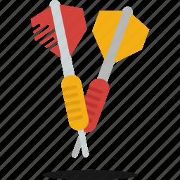 bar, darts, free time, fun, target icon
