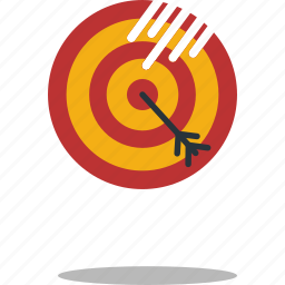 archery, arrow, shooting, sport, target icon