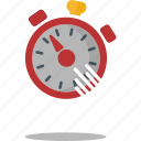 fast, record, running, speed, sport, timer icon