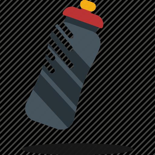 bottle, break, exercise, hidration, sport, water icon