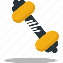 dumbells, fitness, gym, healthy, weight icon