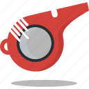 alarm, race, sport, starter, whistle icon