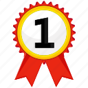 award, medal, paw, ribbon icon