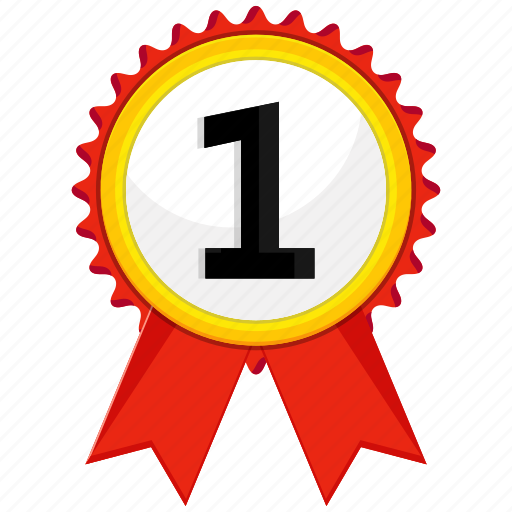 award, medal, paw, ribbon icon