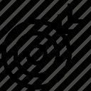 aim, arrow, bulls-eye, dartboard, darts, focus, target icon