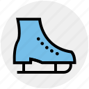 boot, ice shoes, roller, rolling shoes, shoes, skating shoes icon