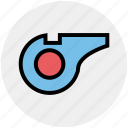 coach, fluit, gym, health, sports, training, whistle icon