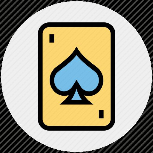 casino card, play card, poker, poker card, poker element, poker spade, poker symbol icon