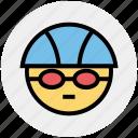 swim, swimming player, swimming glasses, goggles, swimming cap, sport, glasses