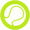 ball, exercise, game, racket, sports, tennis, tennis ball icon