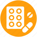 bodybuilding, capsule, drug, health, medicine, pill, pills icon