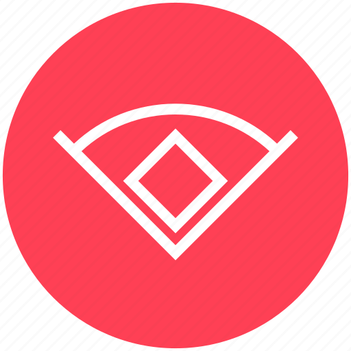 baseball, baseball court, court, design, ground, league, sports icon
