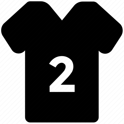 clothes, football jersey, numbered shirt, player shirt, soccer shirt, t-shirt, team uniform icon
