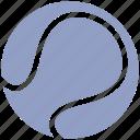 ball, circle, exercise, flat ball, game, racket, sport, sports, tennis, tennis ball icon