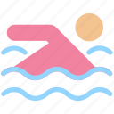 exercise, fitness, health, pool, sports, swim, swimmer, swimming icon