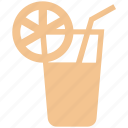 cold drink, drink, energy, fitness, glass, healthy, lemon juice, water icon