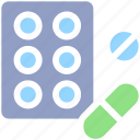 bodybuilding, capsule, drug, fitness, health, medicine, pill, pills icon