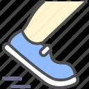 run, shoe, speed icon