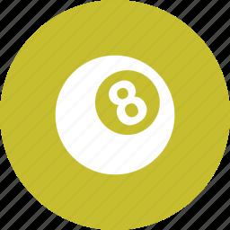 ball, billiard, cue, eight ball, game, play, pool icon