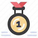 award, first, medal, reward, ribbon
