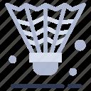 badminton, cock, shuttle, shuttlecock, sport icon