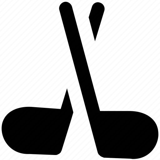 game, golf stick, hockey, hockey stick, sports, sports accessories icon