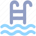 diving, health, pool, sports, swimming, swimming pool, water icon