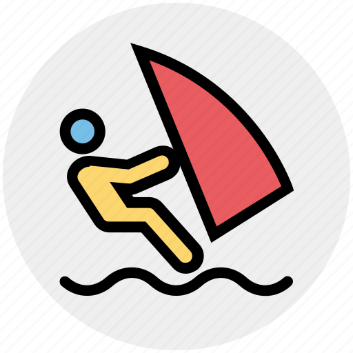 boat, boating, sailing, sea, water sports, watercraft icon