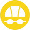 equipment, goggles, gym, sport, swimming, swimming man, training icon