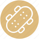 board, ice skateboard, ice skating, longboard, skateboard, skating, ski board icon