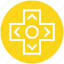 arrows, controller, game, gamepad, joy pad, key, keys icon