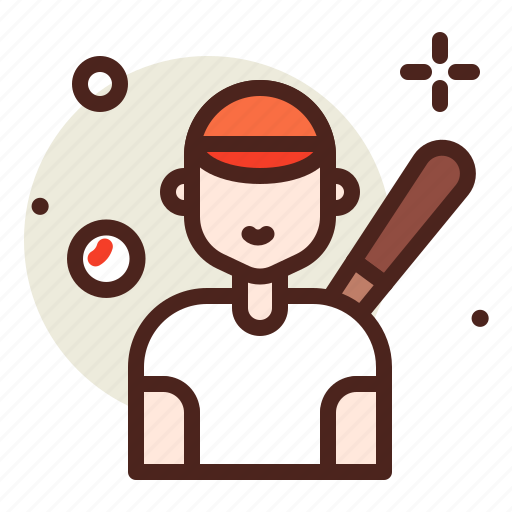 activities, baseball, healthy, hobby, outdoor, player icon
