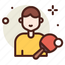 activities, healthy, hobby, outdoor, ping, player, pong icon