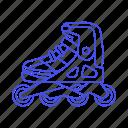 inline, kate, roller, shoe, skate, skating, sports, various icon