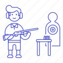 archery, ear, firearm, male, protection, shooting, shotgun, sports, target icon